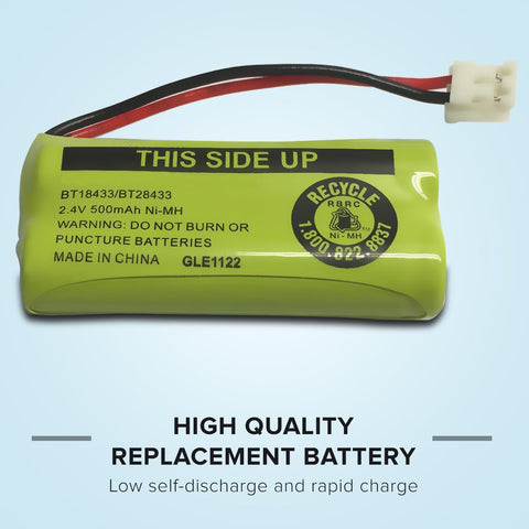 Image of AT&T  Bt8001 Cordless Phone Battery