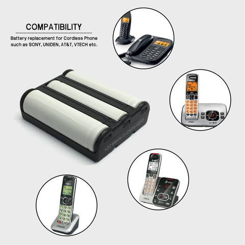 Image of Vtech 80 1280 00 00 Cordless Phone Battery