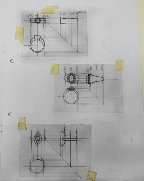 Jewellery Design Technical Drawings Sketches