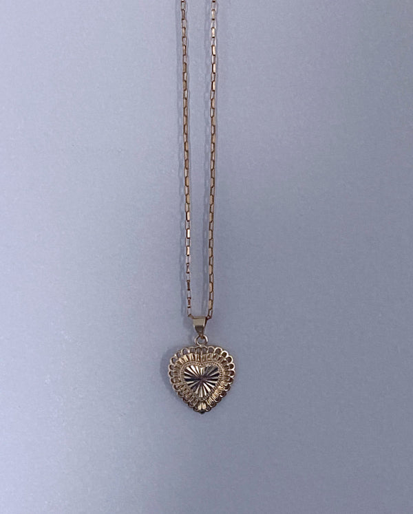 18k Gold Filled Heart & Soul Charm Necklace
