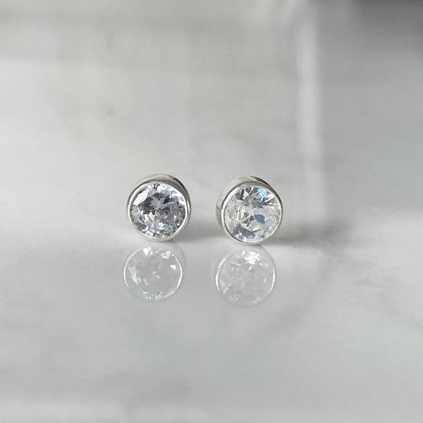 Diamond Studs April Birthstone - Angela Wozniak Jewellery