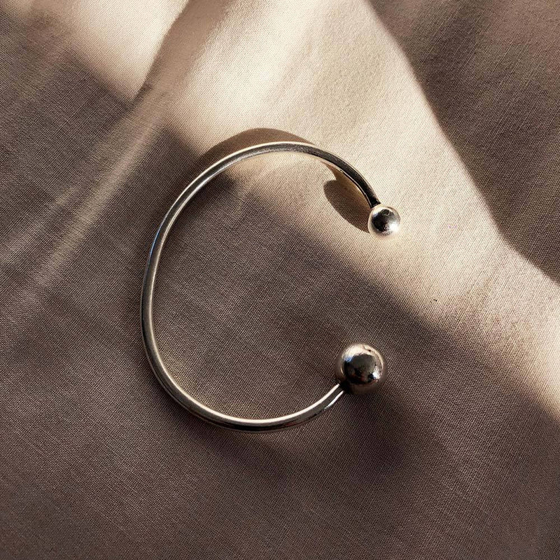 Earth And Moon Opening Cuff - Angela Wozniak Jewellery