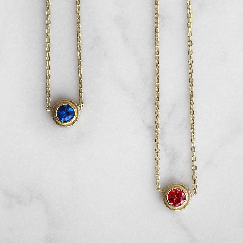 Ruby Necklace July Birthstone - Angela Wozniak Jewellery