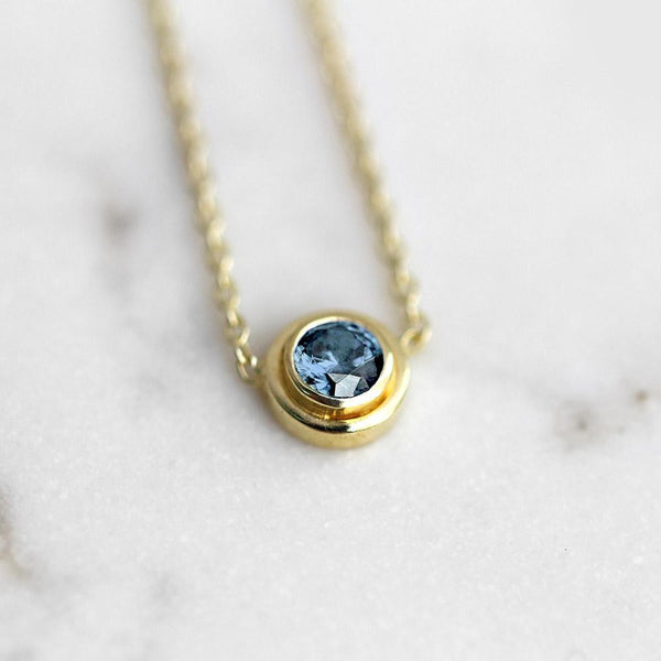 Aquamarine Necklace March Birthstone - Angela Wozniak Jewellery