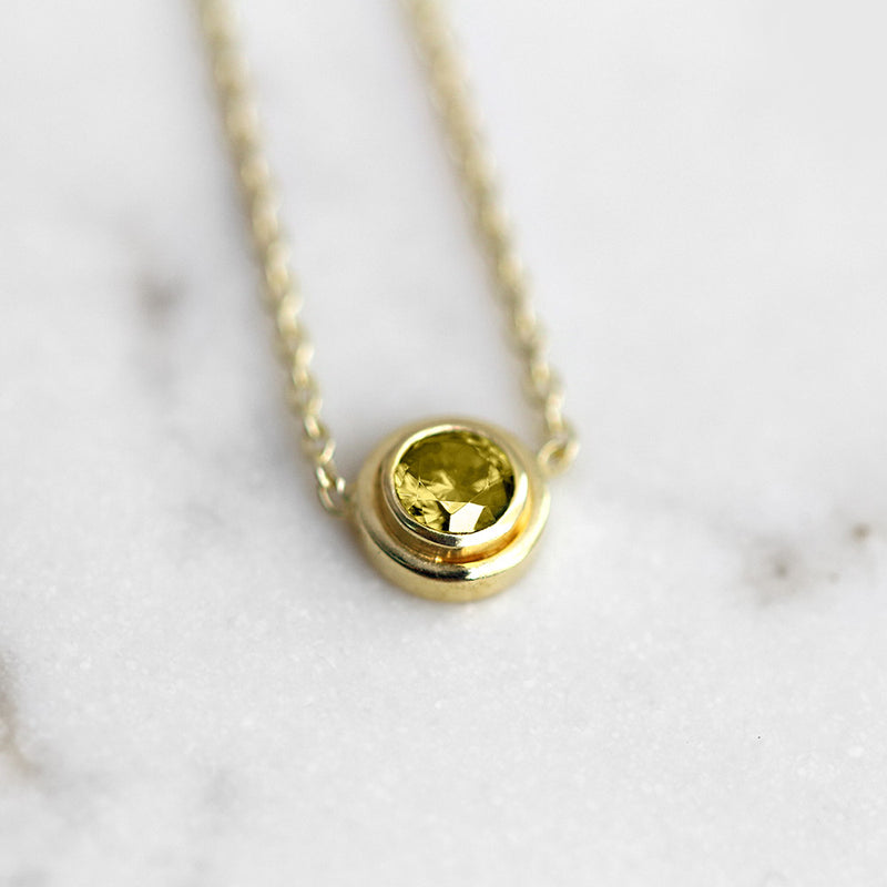 Citrine Necklace November Birthstone - Angela Wozniak Jewellery