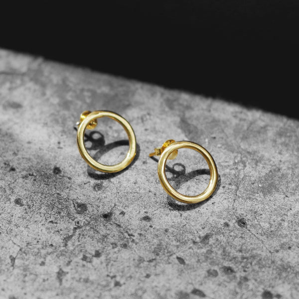 Jessica Mini Open Circle Stud Earrings - Angela Wozniak Jewellery