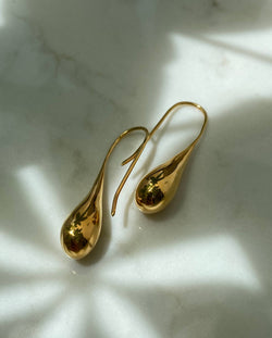Waterdrop Teardrop Gold Earring Raindrop Australian Jewellery Designer Online Shop