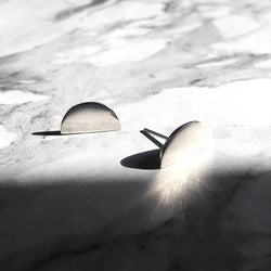 Wayan Semi Circle Studs - Angela Wozniak Jewellery