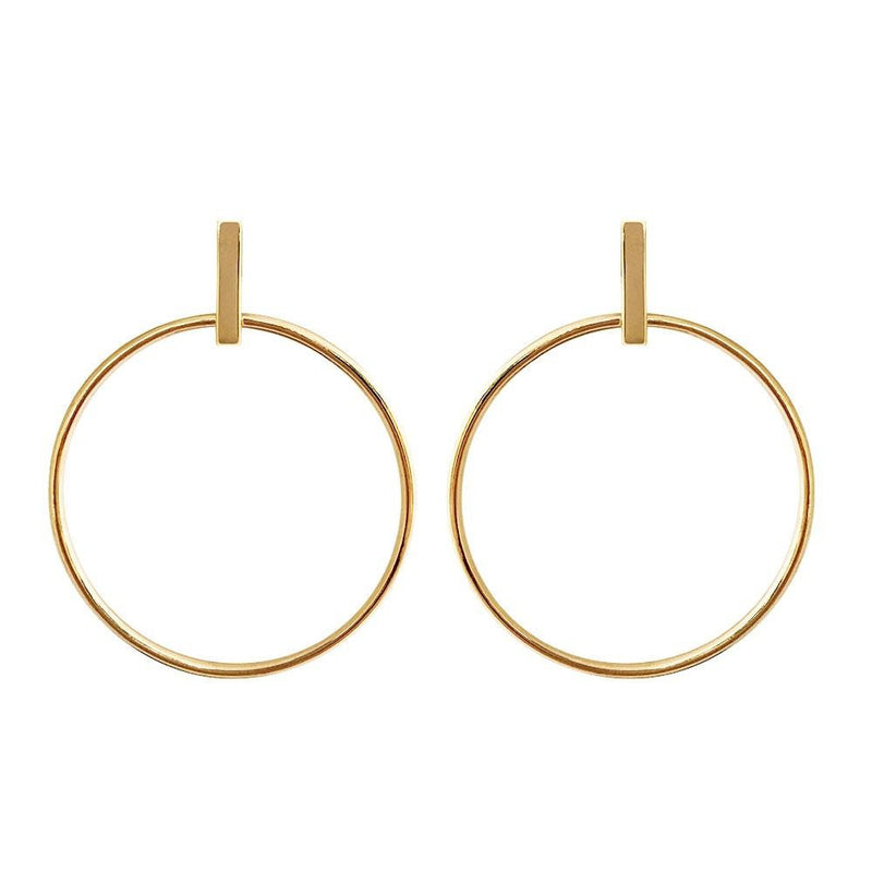 Zaha Bar Stud Hoop Earrings Online Jewellery Shop