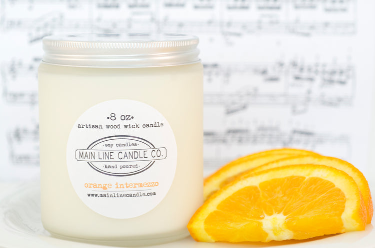 orange intermezzo candle– 8 oz.