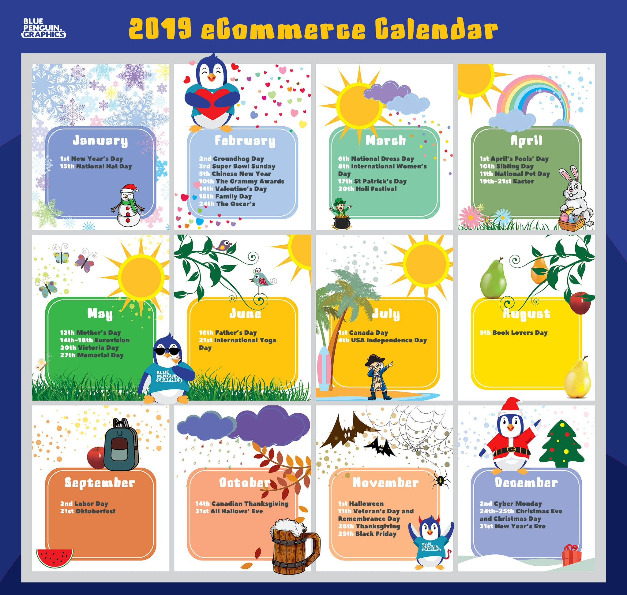 Ecommerce Holiday Calendar For 2019