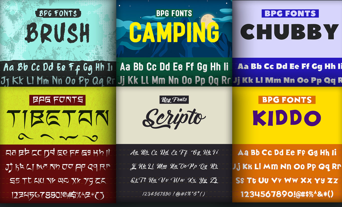 BPG Fonts Collection