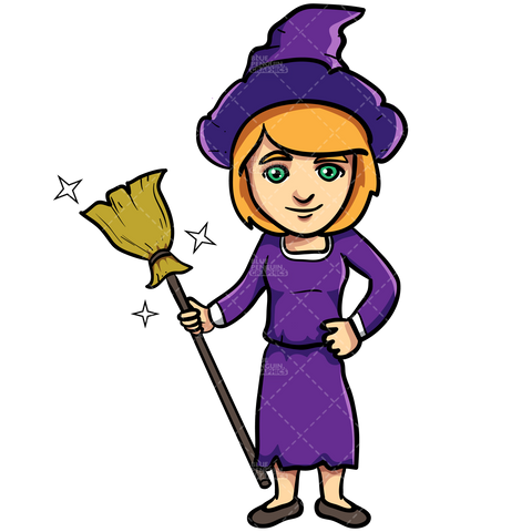 cute-magician-with-a-magic-broom-vector-cartoon-clipart-illustration