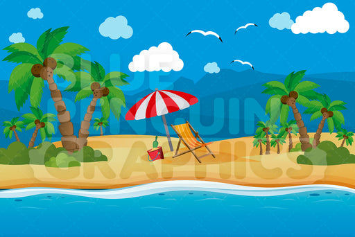 Beach Sand Graphic Background Clipart - Blue Penguin Graphics