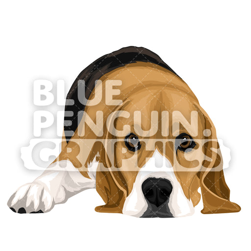 Beagle Dog version 6 Vector Cartoon Clipart Illustration - Blue Penguin Graphics