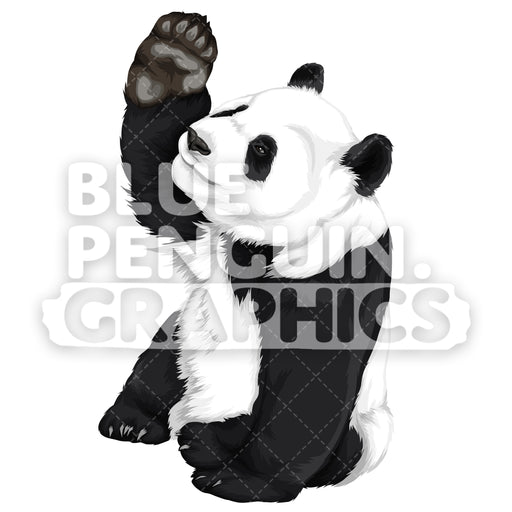 Cute Panda Version 1 Vector Clipart Illustration - Blue Penguin Graphics