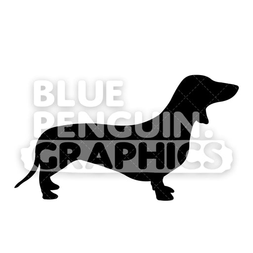 Dachschund Silhouettes Vector Cartoon Clipart Illustration - Blue Penguin Graphics