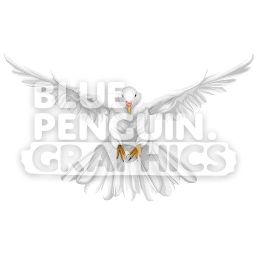 Realistic Dove Version 5 Vector Clipart Illustration - Blue Penguin Graphics