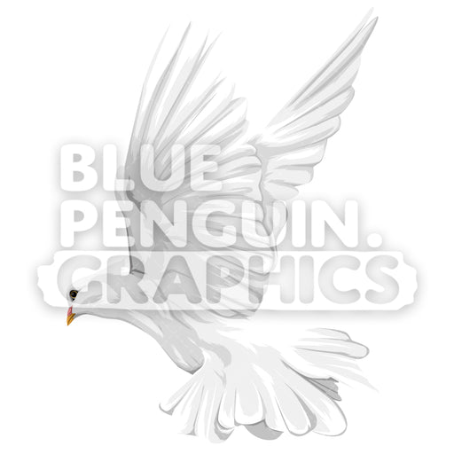 Dove Version 6 Vector Clipart Illustration - Blue Penguin Graphics