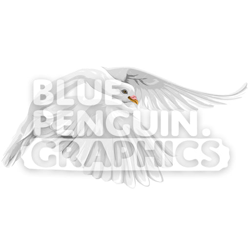 Realistic Dove Version 7 Vector Clipart Illustration - Blue Penguin Graphics
