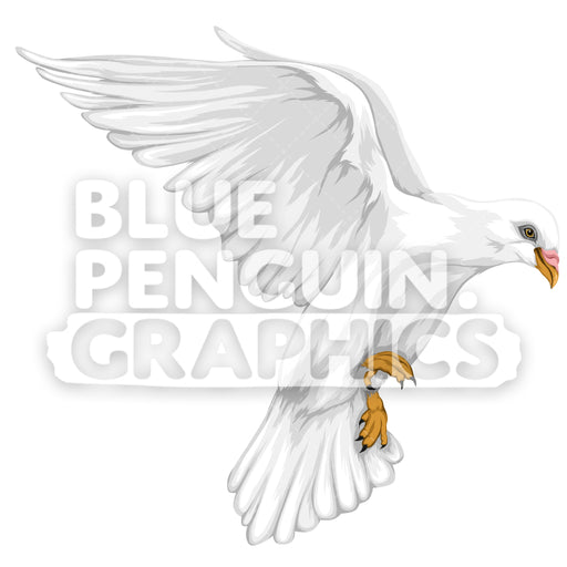 Dove Version 9 Vector Clipart Illustration - Blue Penguin Graphics
