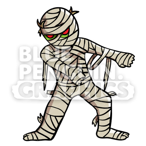 Egyptian Mummy Floss Dance Vector Cartoon Clipart Illustration - Blue Penguin Graphics