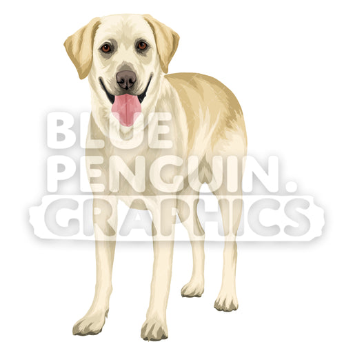 Labrador Dog version 1 Vector Cartoon Clipart Illustration - Blue Penguin Graphics