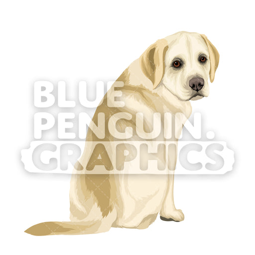 Labrador Dog version 3 Vector Cartoon Clipart Illustration - Blue Penguin Graphics