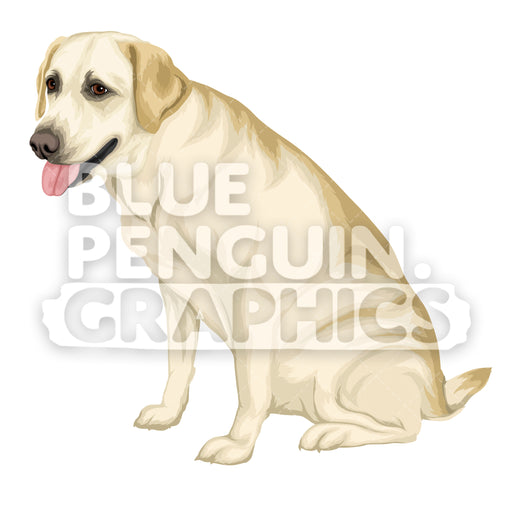 Labrador Dog version 5 Vector Cartoon Clipart Illustration - Blue Penguin Graphics