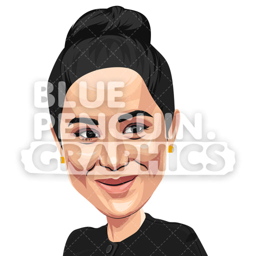 Duchess of Sussex Meghan Markle Vector Clipart Illustration - Blue Penguin Graphics
