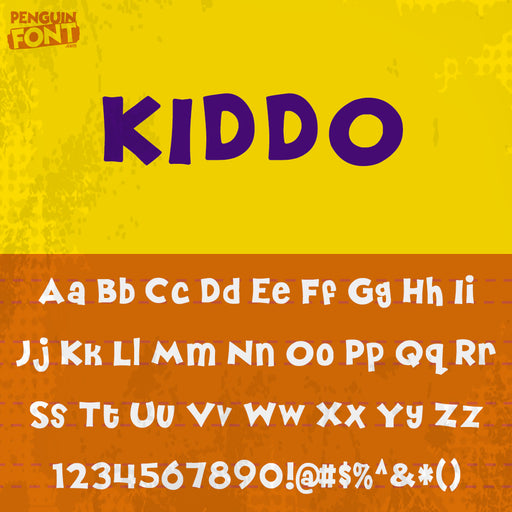 Penguin Kiddo Font - Blue Penguin Graphics