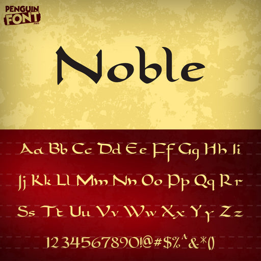 Penguin Noble Font - Blue Penguin Graphics