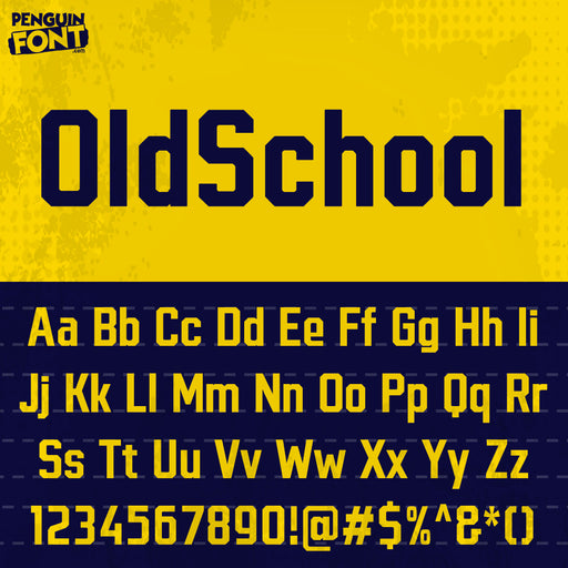 Penguin OldSchool Font - Blue Penguin Graphics