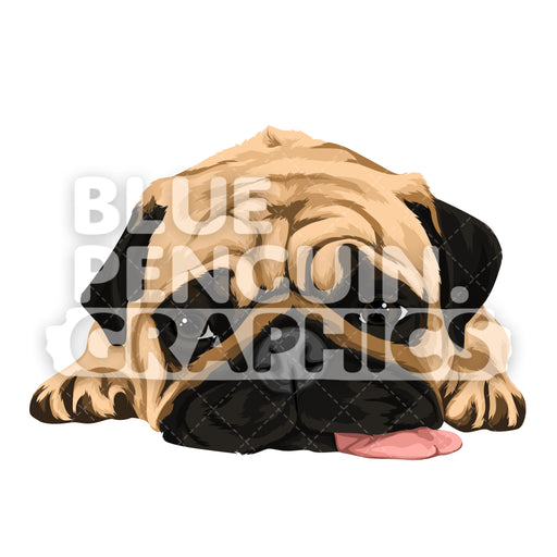 Pug Dog version 5 Vector Cartoon Clipart Illustration - Blue Penguin Graphics