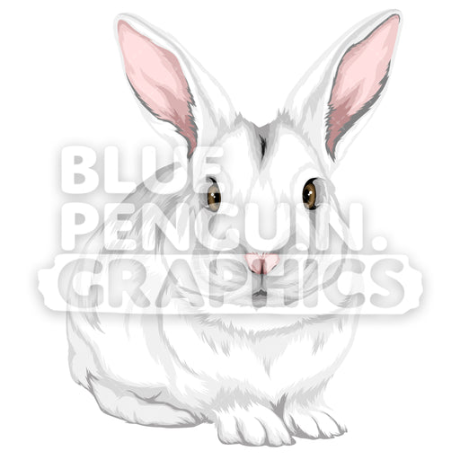Rabbit Version 3 Vector Clipart Illustration - Blue Penguin Graphics