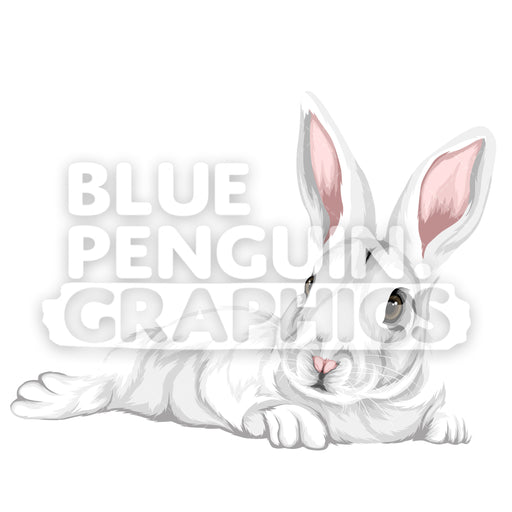 Rabbit Version 7 Vector Clipart Illustration - Blue Penguin Graphics