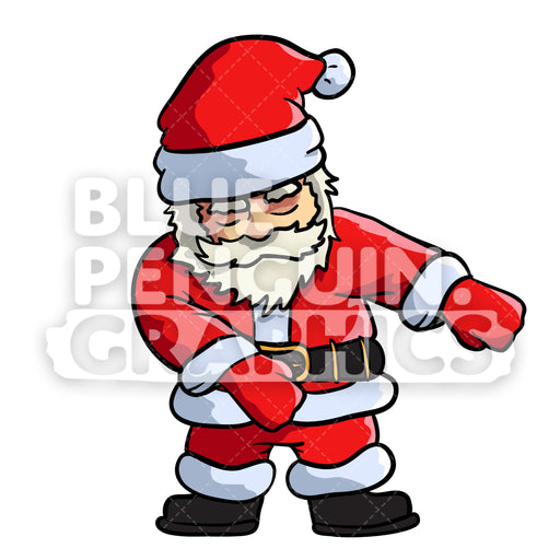 Santa Floss Dance Vector Cartoon Clipart Illustration - Blue Penguin Graphics