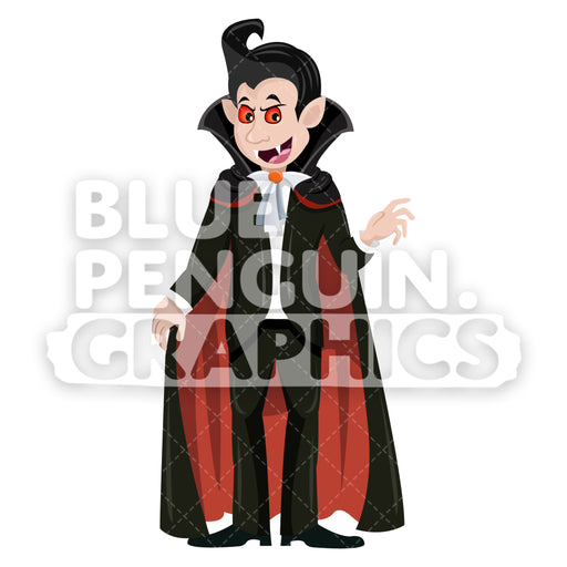 Scary Halloween Characters Vector Cartoon Clipart Illustration - Blue Penguin Graphics
