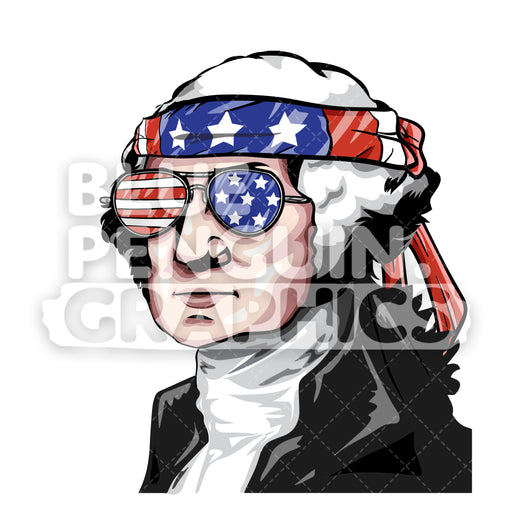 George Washington America Vector Cartoon Clipart Illustration - Blue Penguin Graphics