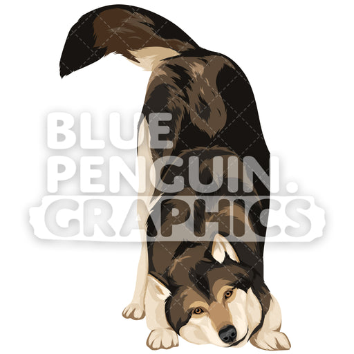Wolf Version 8 Vector Clipart Illustration - Blue Penguin Graphics
