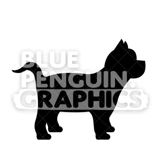 Yorkshire Terrier Silhouettes Vector Cartoon Clipart Illustration - Blue Penguin Graphics
