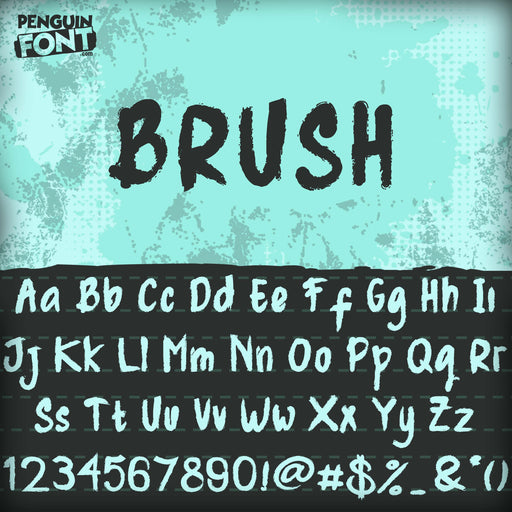 Penguin Brush Font - Blue Penguin Graphics