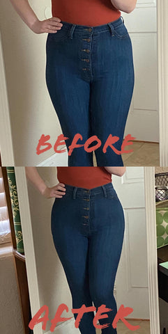 before after hip dip smoothing comfyhourglass demo