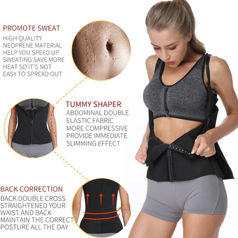 sauna vest promotes sweat and good posture while working out or walking around