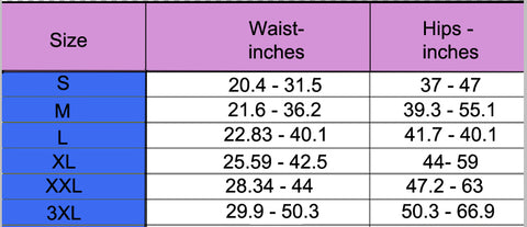 divinemesh size chart in inches panty shorts shapewear