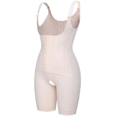 Lace Design Full Body Shaper - By Aphrodite Shapewear Beige / XL Shapewear - Comfy Era
