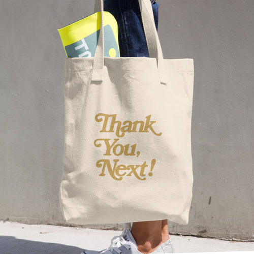 """Thank you, Next"" Cotton Tote Bag"
