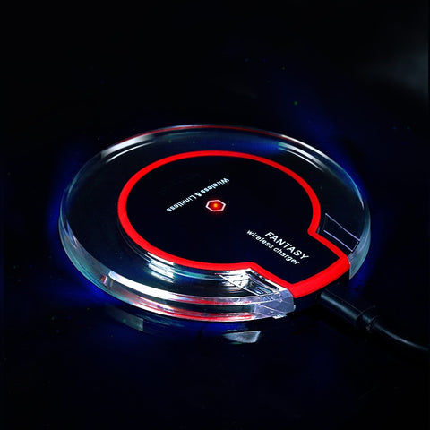 Universal Ultra Thin LED Wireless Charger Pad For iPhone & Android Smartphones