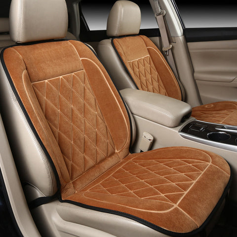 Luxury Plush Car Heating Seat Covers Cushions - 3 Colors