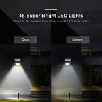 48 LED Outdoor Solar Lamp with Motion Detector